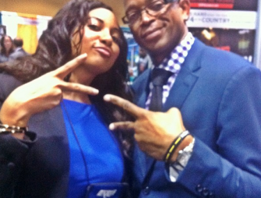 Nadine and legendary sportscaster Stuart Scott #rip