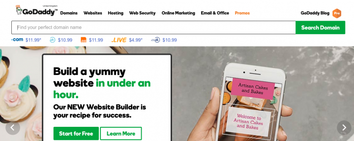 Godaddy-homepage
