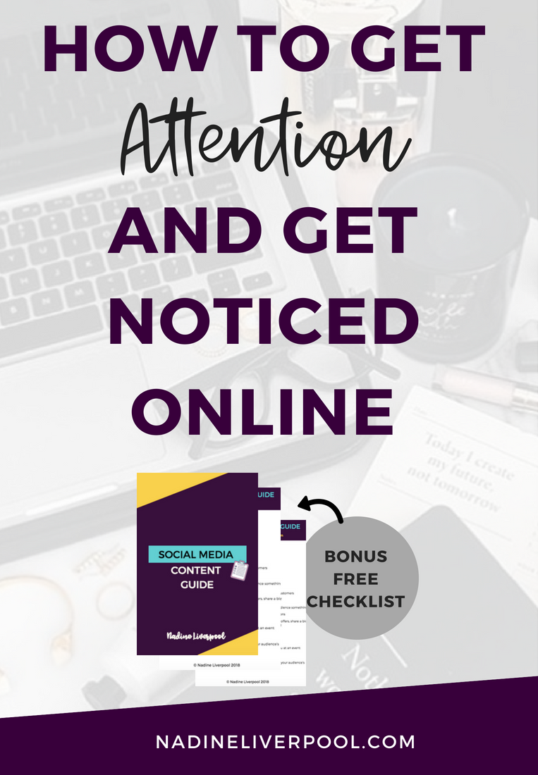 How to get attention and get noticed online. Want to learn how to get attention and get noticed online? Well, in this video I give 5 ways you can start getting attention online for free, right now.